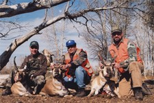 These three antelope hunters had great success on their first Wyoming antelope hunt.