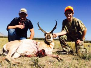 <p>Bar Nunn's very own Colter Nunn with his first antelope buck. Way to go Colter!</p>