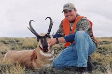 Another trophy buck antelope taken with Bar-Nunn Hunting.  Our private ranches have some of the best antelope hunting you can find anywhere.  We guarantee a shooting opportunity at a mature buck antelope.