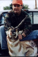 Mark Nethery of KY took this wide 15 inch antelope during his first hunt with Bar-Nunn Hunting.