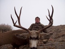 Mark Nethery shown here with another trophy mule deer.  2008 was a great year for big deer.