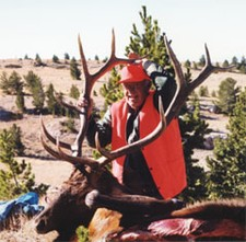 Chuck Nelson shown here with his 6x6 bull elk.  We all get lucky every now and then!!