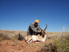 Mark N. returns to Laramie Wyoming to hunt antelope for the 8th consequetive year.  Once again he is lucky enough to take a very nice antelope.  First a client now a good friend and hunting partner.