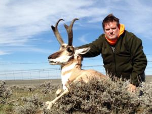<p>Mark with his 2013 Wyoming Antelope. Mark Also took a very nice Wy Mule Deer as well as a nice <a href=