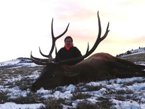 <p>Mark with his 2013 Wyoming Elk. Mark also shot a very nice <a href=