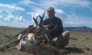 <p>Tim from ohio arrowed this buck by 11:00am on the first morning of his hunt. Buck scored in the low 70's. Tim made a perfect double lung shot and the buck ran less than 100 yards before tumbling.</p>