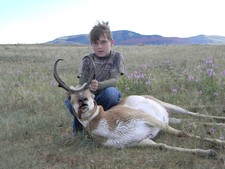 Another good look at an archery antelope.  During the 2010 archery season we had three different father/son hunts.  All three took very nice antelope.