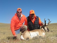 The Gileot party of three booked their antelope hunt over a year in advance to secure opening weekend in early Sept.  All three members of their hunting party harvested very nice buck antelope in Wyoming Antelope Hunting area 44.